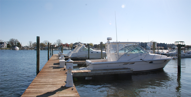 Docked Boat at Pleasure Bay Yacht Basin